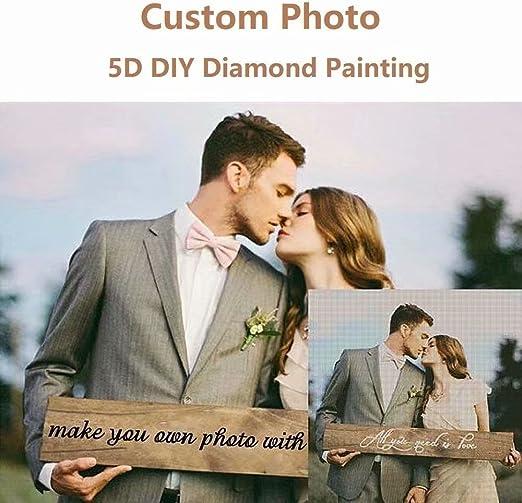 Photo Custom Diamond Painting Full Drill Friendship Portrait Christmas Prom Gift