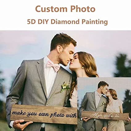 9a4203b53e Amazon.com  Personalized Custom Photo Diamond Painting 5D DIY ...