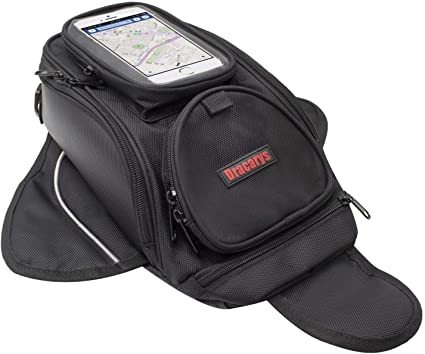 Bolsa de Tanque de Motocicleta - Oxford Saddle Negro Bolsas para depósito Motocicleta - Universal Fuerte Bolsa magnética para Honda Yamaha Suzuki ...