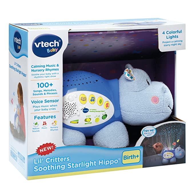 VTech Baby Lil Critters Soothing Starlight Hippo: Amazon.es ...