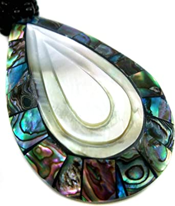 Natural Abalone Shell Cone Shell Pendentif Perles Collier Femmes Bijoux BA226