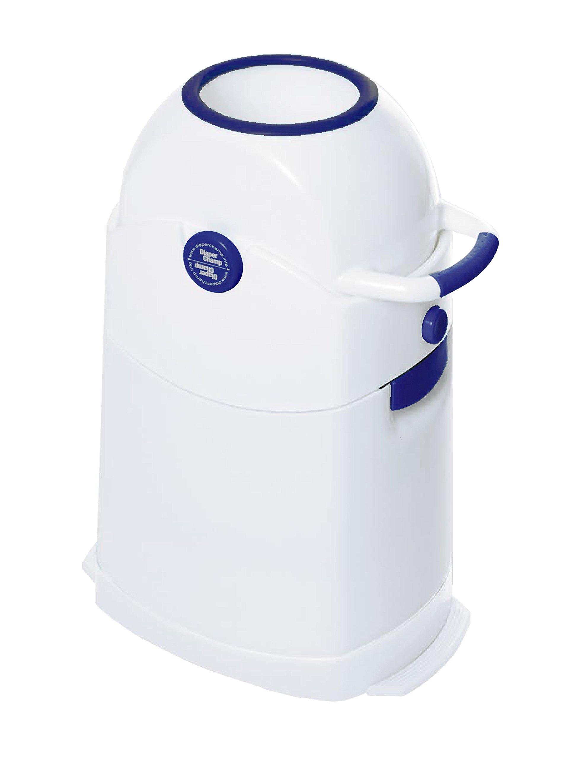 Diaper Champ 04002-01- Cubo de basura para pañales, tamaño pequeño, color azul y blanco product image