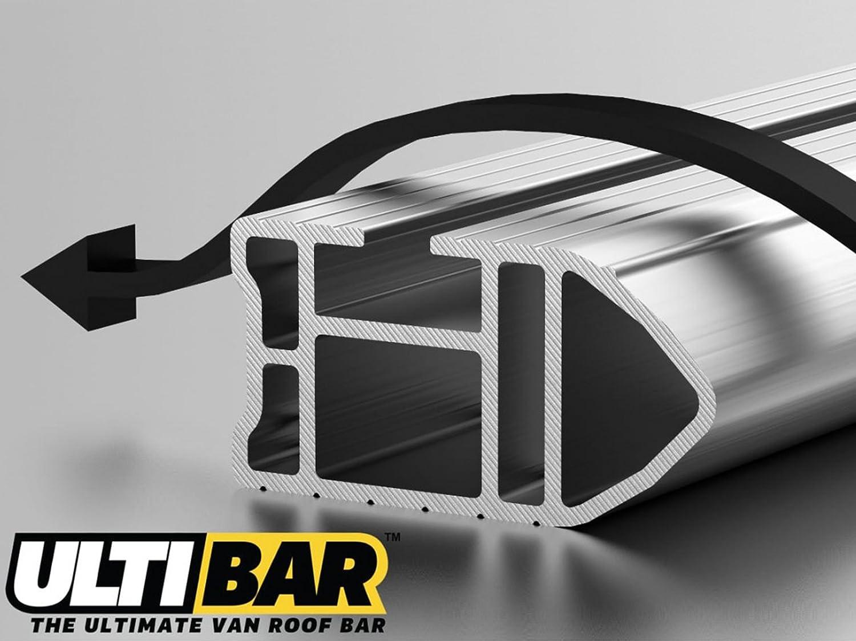 2006 on Van Guard Ulti Bar 3 Aluminium Roof Bars and 4 Load Stops for Mercedes Sprinter