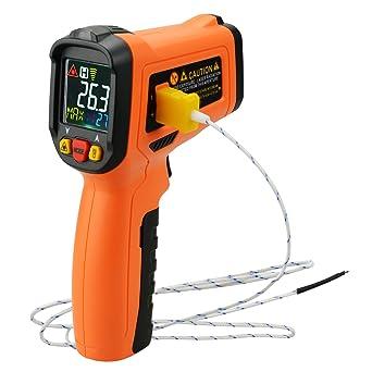 Sin contacto IR infrarrojo láser termómetro termopar tipo K-50 ~ 800 ° C /
