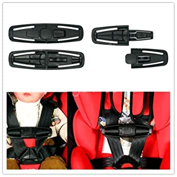Set Of 2 Car Baby Child Safety Seat Strap Belt Harness Chest Clip Buckle