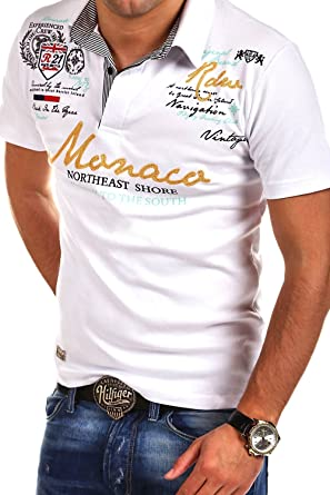 a967a177 MT Styles Poloshirt Monaco T-Shirt R-2254 [Weiß, 4XL]: Amazon.de ...