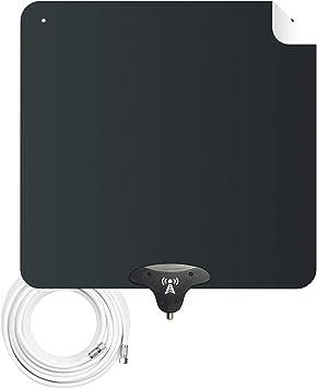 NoCable 30 - Antena Digital HDTV para Interiores | Cable de 12 pies, TV Gratis para la Vida, Ultra Plana y Reversible, Antena HD TV Antena. Fácil de ...