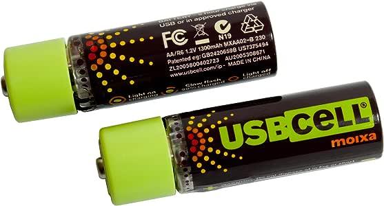 Energizer USB Cell - Pilas recargables (USB, AA)