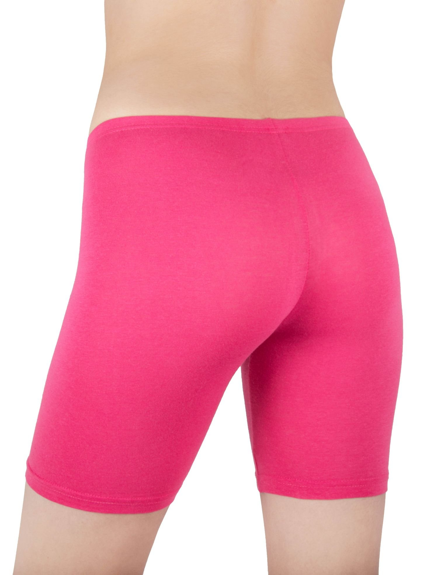 Sexy Basics Womens 3 Pack Sheer & Sexy Cotton Spandex Boyshort Yoga Bike Shorts (Medium -6, 3 PK BLACK) by Sexy Basics (Image #2)