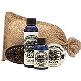 Beard Grooming Care Kit for Men by Mountaineer Brand   Beard Oil (2oz), Conditioning Balm (2oz), Wash (4oz), Brush (Original/Timber)
