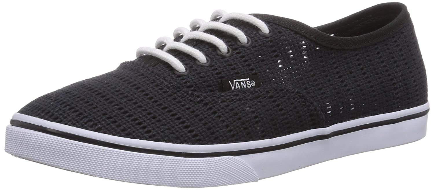 Vans Authentic Lo Pro Mens White Mesh Lace Up Lace Up Sneakers Shoes