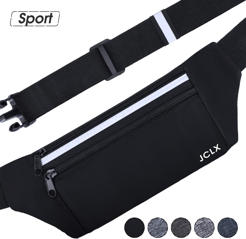 JCLX Running Waist Packs, Ultra Light Bounce Free Waist Pouch Fitness Workout Belt Sport Waist Pack Exercise Waist Bag for Apple iPhone 8 X 7 6 5s Samsung in Running Gym Marathon Cycling
