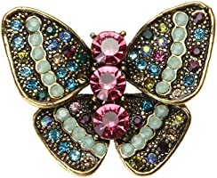 ForU-1 Colorful Butterfly Shaped Brooch Corsage Retro Insect Series Brooch Pin Decor
