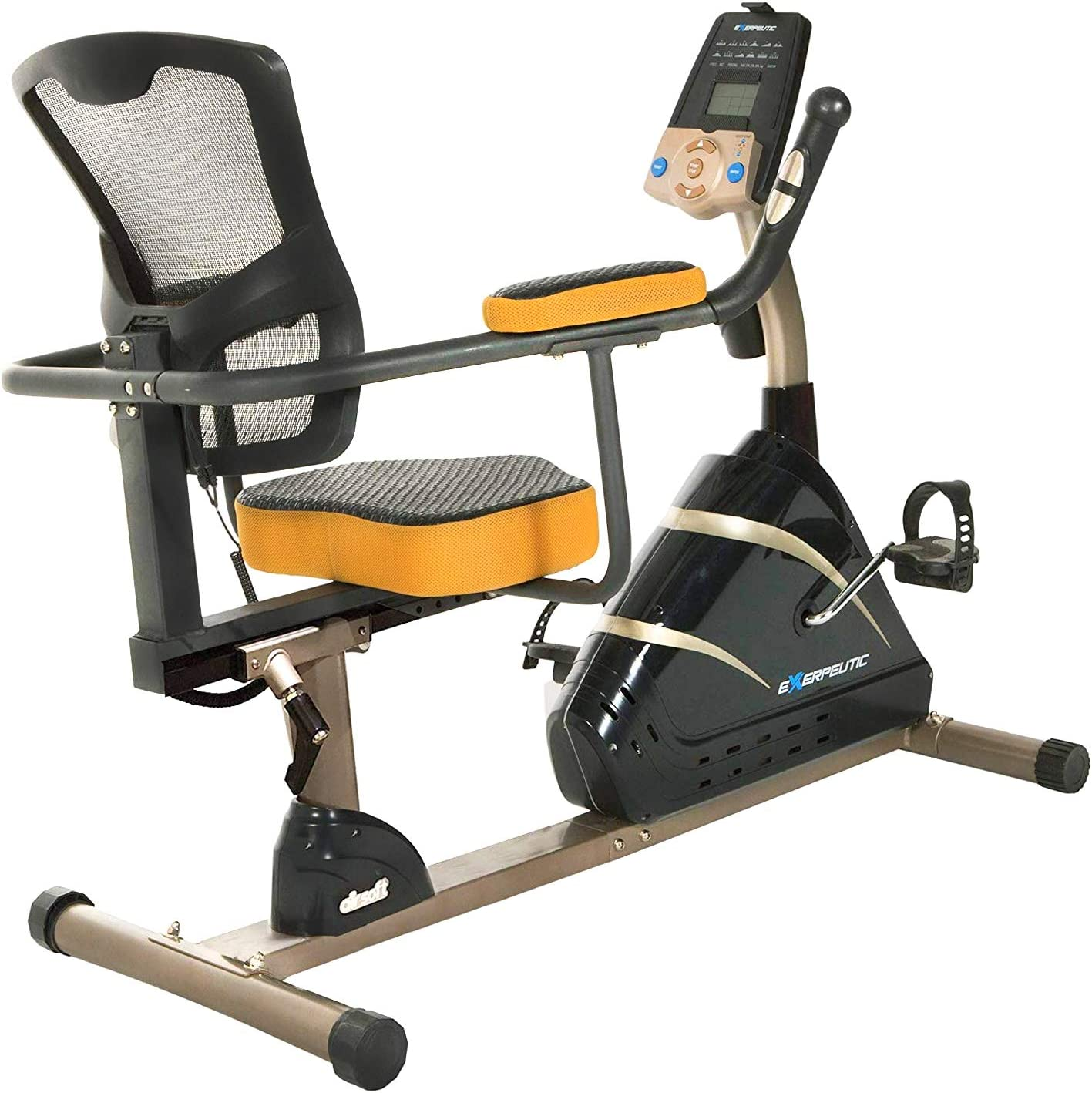 400/kg Exerpeutic Paradigm Health and Wellness 7102 Oro 525/x LR reclinado Bicicleta est/ática Plegable
