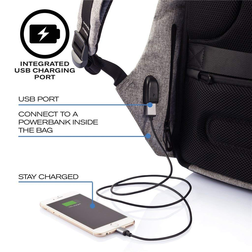 e7b9f0004a6 Amazon.com  XD Design Bobby Original Anti-Theft Laptop Backpack with USB  port (Unisex bag)  Computers   Accessories