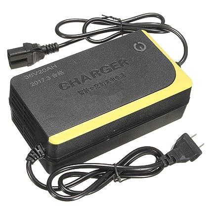 WCHAOEN Cargador inteligente de 36V 20AH para la batería de ...