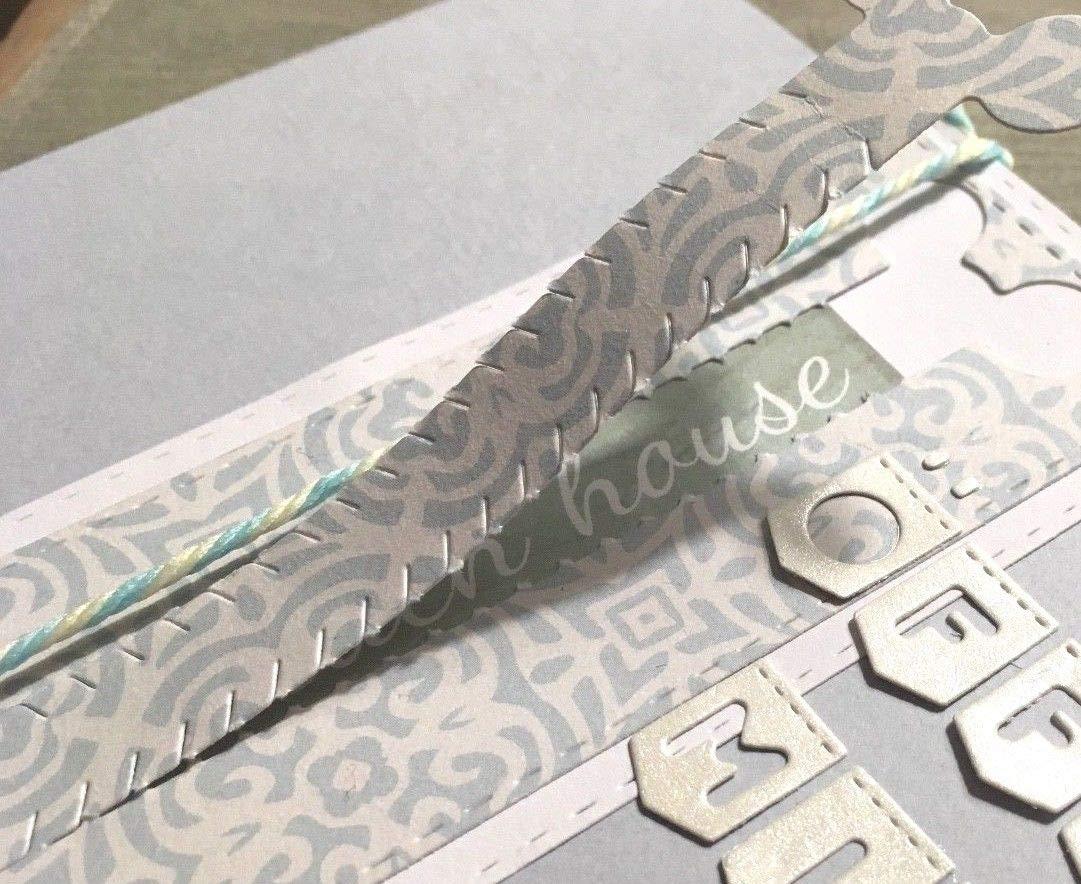 Simplelettering Stanzschablone//Cutting Dies Zipper /Überraschung Versteck geeignet f/ür Big Shot