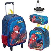 Kit Mochila Infantil Spiderman 19X Lancheira Estojo Sestini