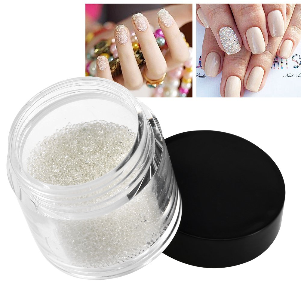 10g Mini Kristall Nagel Perlen Transparente Dekoration Glänzende Glasperlen Undefiled Maniküre Zubehör Nagel DIY Dekore Liefert GLOGLOW