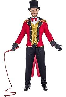 Helymore Disfraz de Circo para Hombre Mujer Vestido de Ringmaster ...