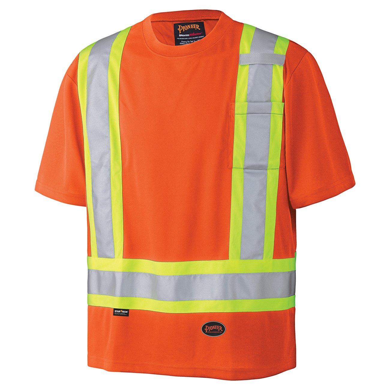 Pioneer V1051170-3XL Birdseye Reflective Safety T-Shirt, Black, 3XL