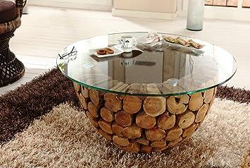 Wohnzimmer Tisch Holz Unikat Massiv Holti