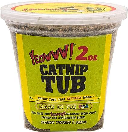 Amazon Com Yeowww Catnip Tub 2 Ounce Catnip Toys Pet Supplies