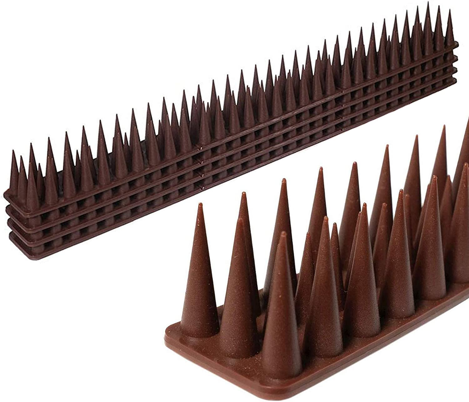 12 Pack Plastic Deterrent Spikes, Fence Spikes for Cat,Birds,Pigeons and Other Animal,Great for Indoor and Outdoor Use