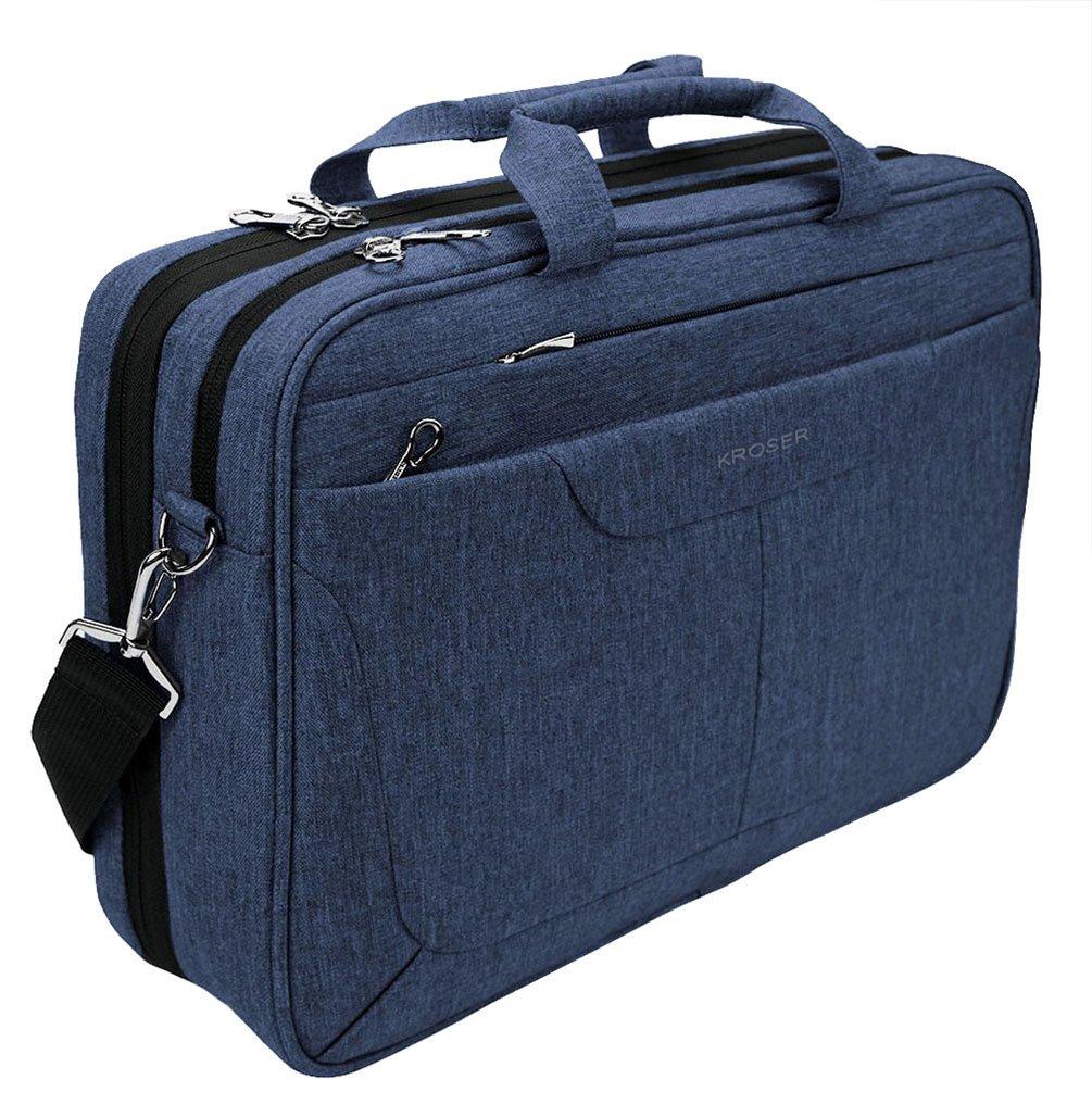 KROSER Laptop Bag 15.6 inch Briefcase Laptop Messenger Bag Water Repellent Computer Case Tablet Sleeve with RFID Pockets for College/School/Business/Women/Men-Blue TAM-2802F-JeansBlue