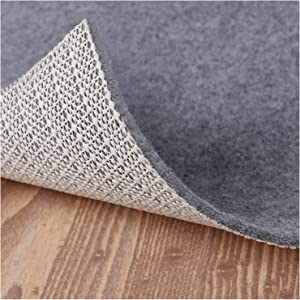 "Non Slip Rug Pad Grippers - 5×8, 1/8"" Thick, (Felt + Rubber) Double Layers Area Carpet Mat Tap, Provides Protection and Cushioning for Hardwood or Tile Floors"
