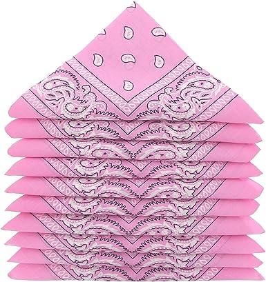 KARL LOVEN – Lote de pañuelos 100% algodón Paisley pañuelo fichu bandana – Lote de 600 rosa: Amazon.es: Ropa y accesorios