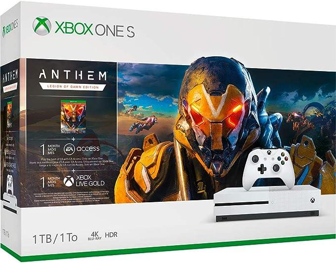 Microsoft Xbox One S + Anthem Blanco 1000 GB Wifi - Videoconsolas ...