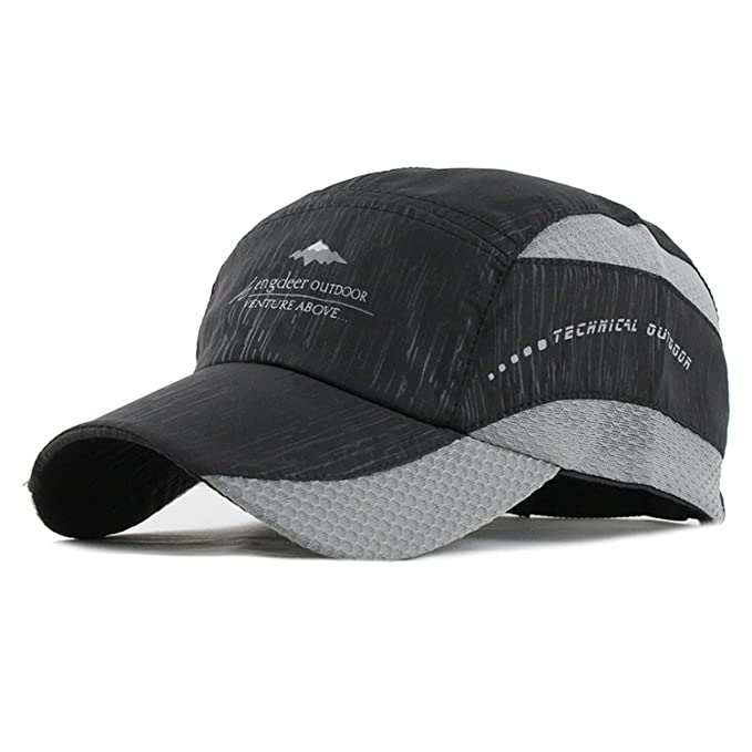 cef21d1ad8d Image Unavailable. Image not available for. Color  CoolBao Summer Cap  Baseball Cap Men Women Fitted Quick-Dry Dad Cap Snapback Hats Sunhat