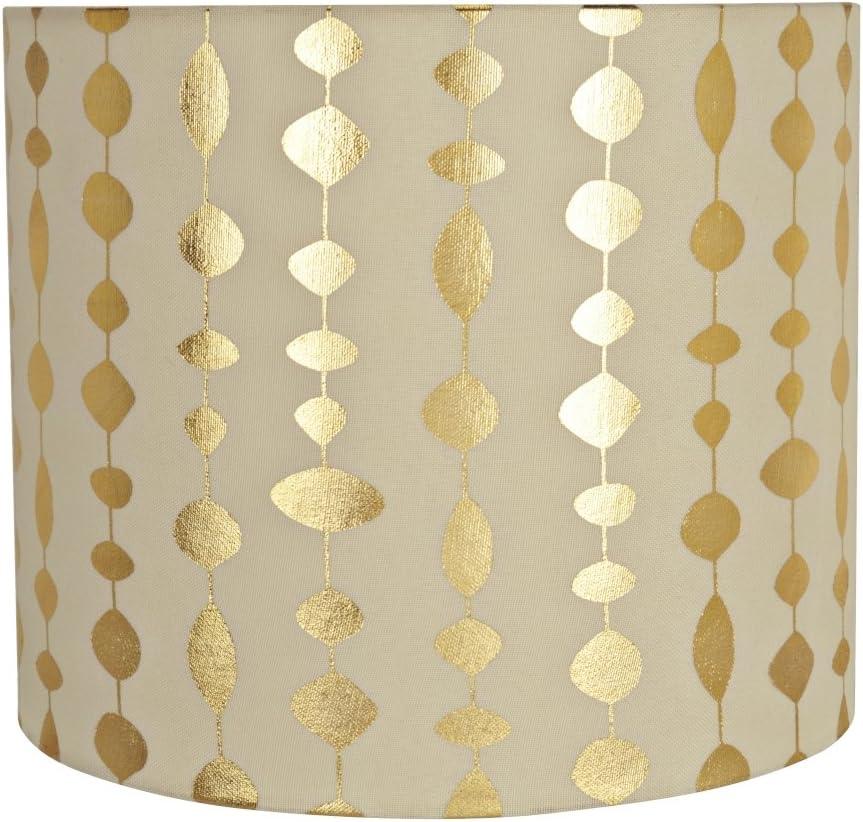 Aspen Creative 31097 Spider Construction Lamp Shade, 12 x 12 x 10 , Beige
