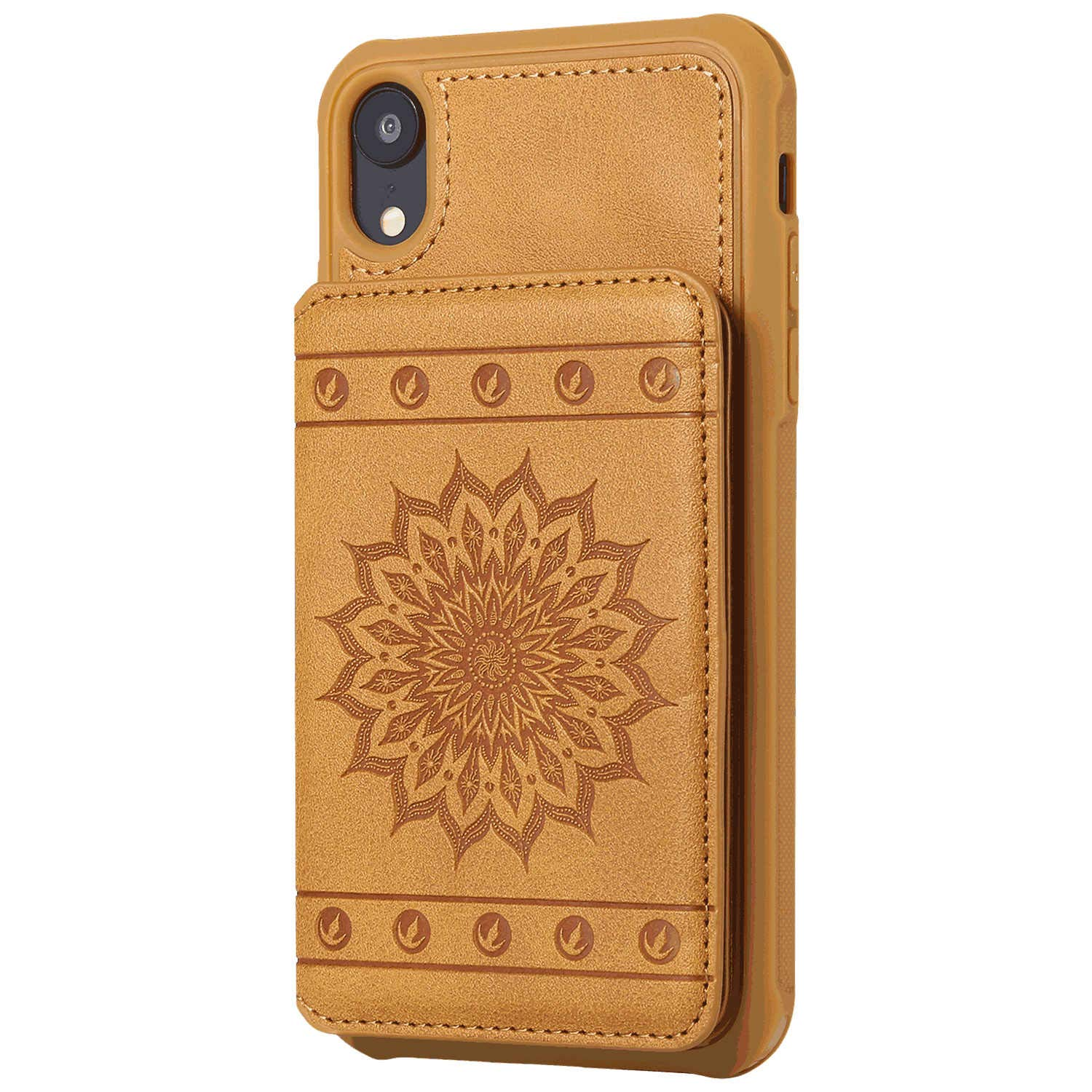 Cover for Leather Extra-Shockproof Business Card Holders Wallet case Kickstand Flip Cover iPhone XR Flip Case