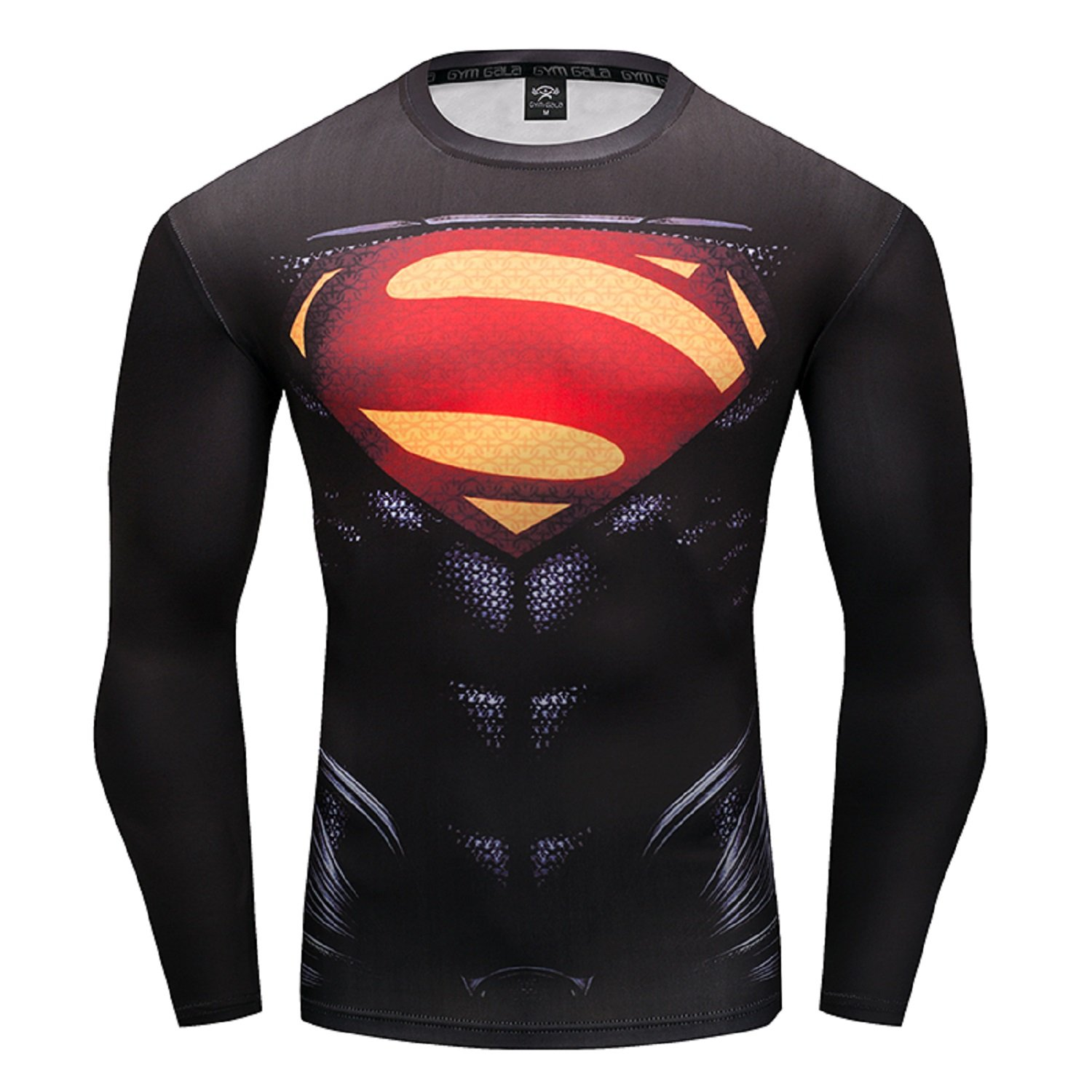 6deb330363 GYMGALA Superman Men Long Sleeve Fitness Compression Shirt at Amazon Men's  Clothing store: