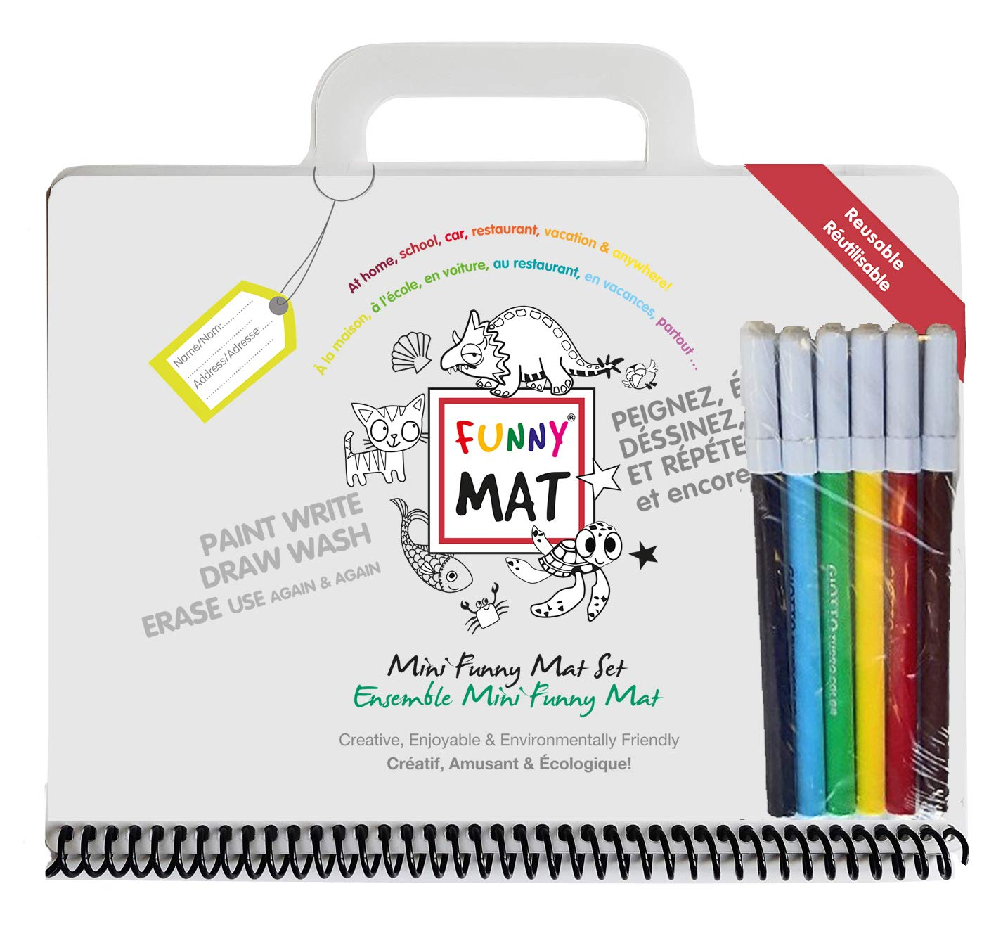 Amazon com: Funny Mat Mini Travel Set - Spiral Bound Erasable