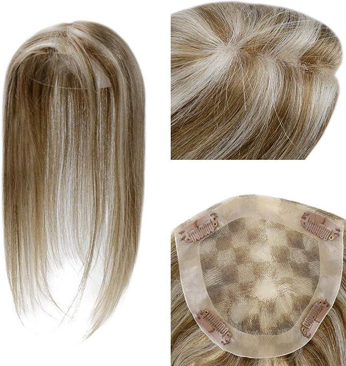 LaaVoo 14 Pulgadas Hair Toppers Corona de Pelo para Mujeres Crown ...