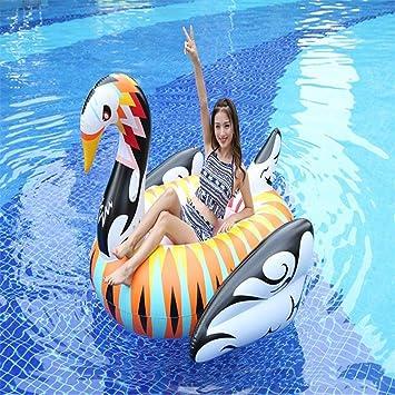 Piscina Inflable flotador Hinchable Colchonetas Gigante Blanco Y Negro Golden Swan Isla Flotante Juguete De Verano Fiesta En La Piscina Juguete Con Válvulas Rápidas Para Adultos Y Niños: Amazon.es: Bricolaje y herramientas