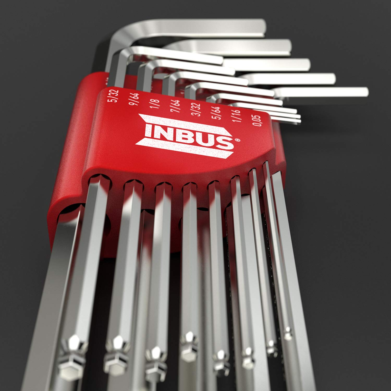 INBUS/® 70426 Inbusschl/üssel Set mit Kugelkopf 13tlg Zoll 0.05-3//8 I Made in Germany