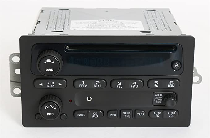 1 Factory Radio AM FM CD Player Radio w Aux Input Compatible With 2003-05  Chevrolet Truck 10357894