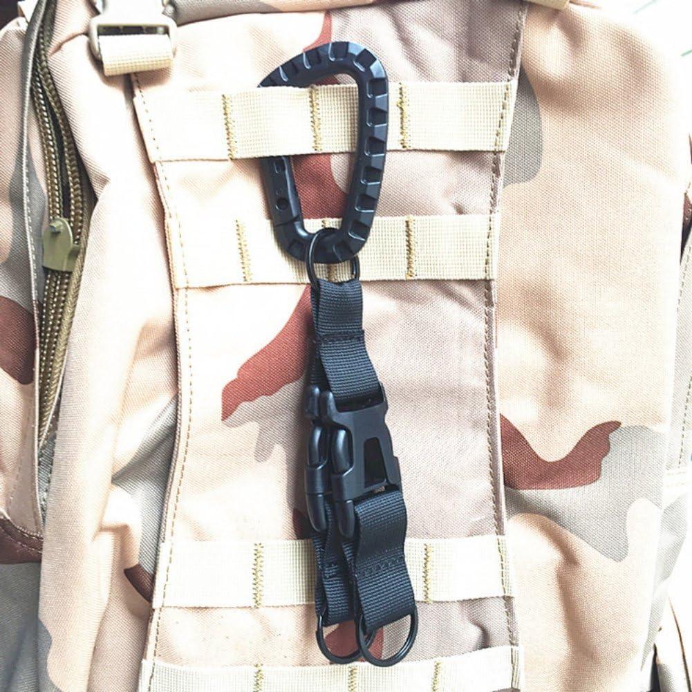 Leezo MOLLE Multifunktions Aufh/ängen Schnalle Outdoor Nylon Milit/är Gurtband G/ürtel Karabiner Clip auf die G/ürtel Clip f/ür Camping Wandern
