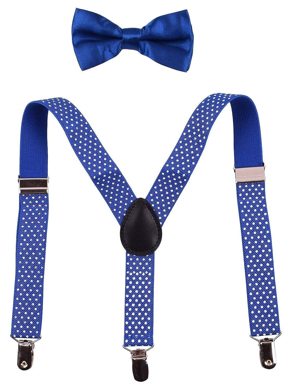 PZLE Little Boys Adjustable Suspender Bowtie Set ZTRUTEJ-A2858