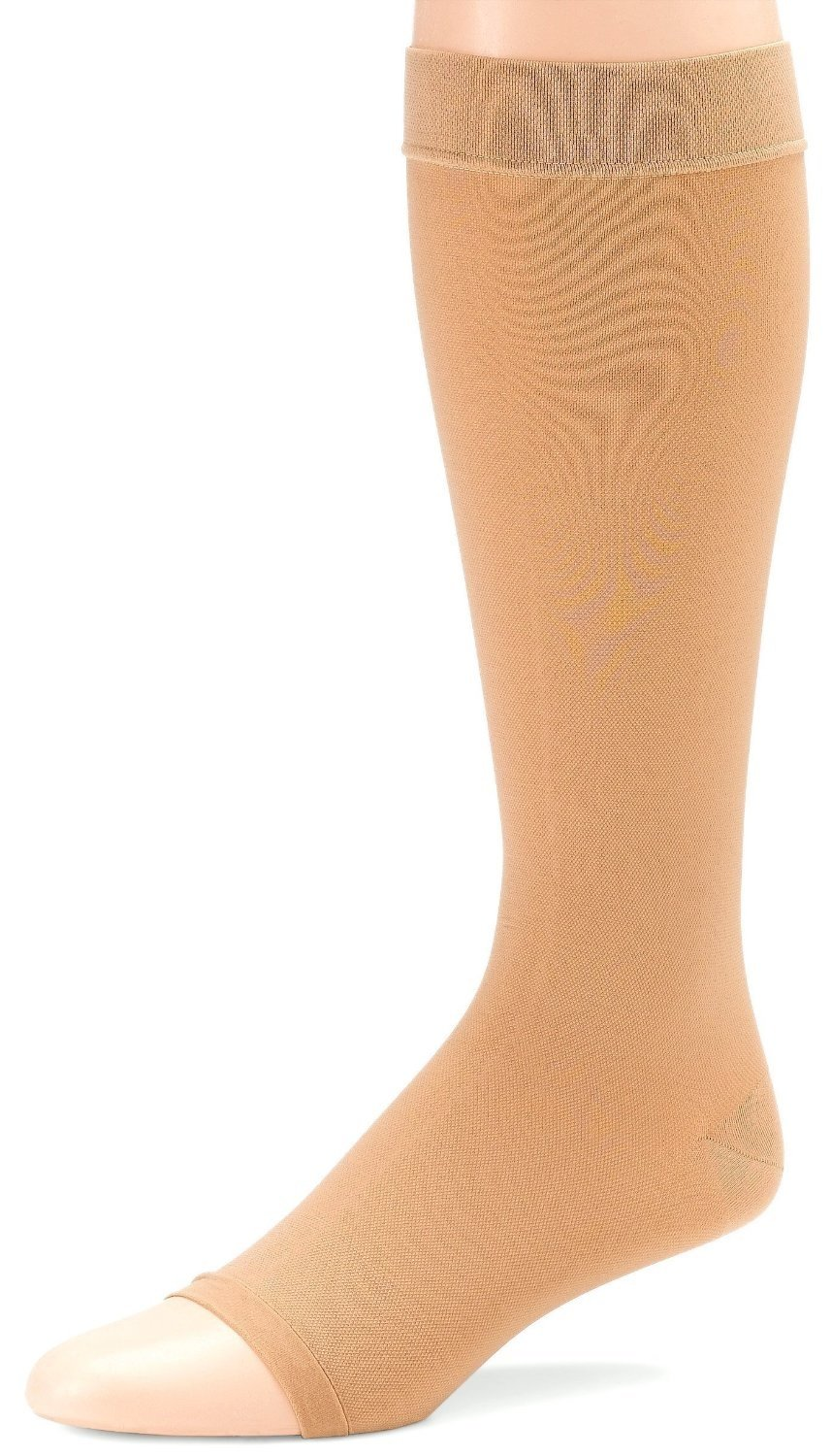 Futuro Therapeutic Support Knee High, Large, Beige, Firm, Open Toe-Reinforced Heel, (6 Pairs)