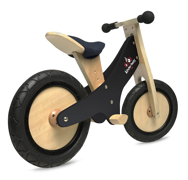 amazon com kinderfeetsclassic chalkboard wooden balance bike kids rh amazon com DIY Wooden Bicycle Square Wooden Balance Bike Tires