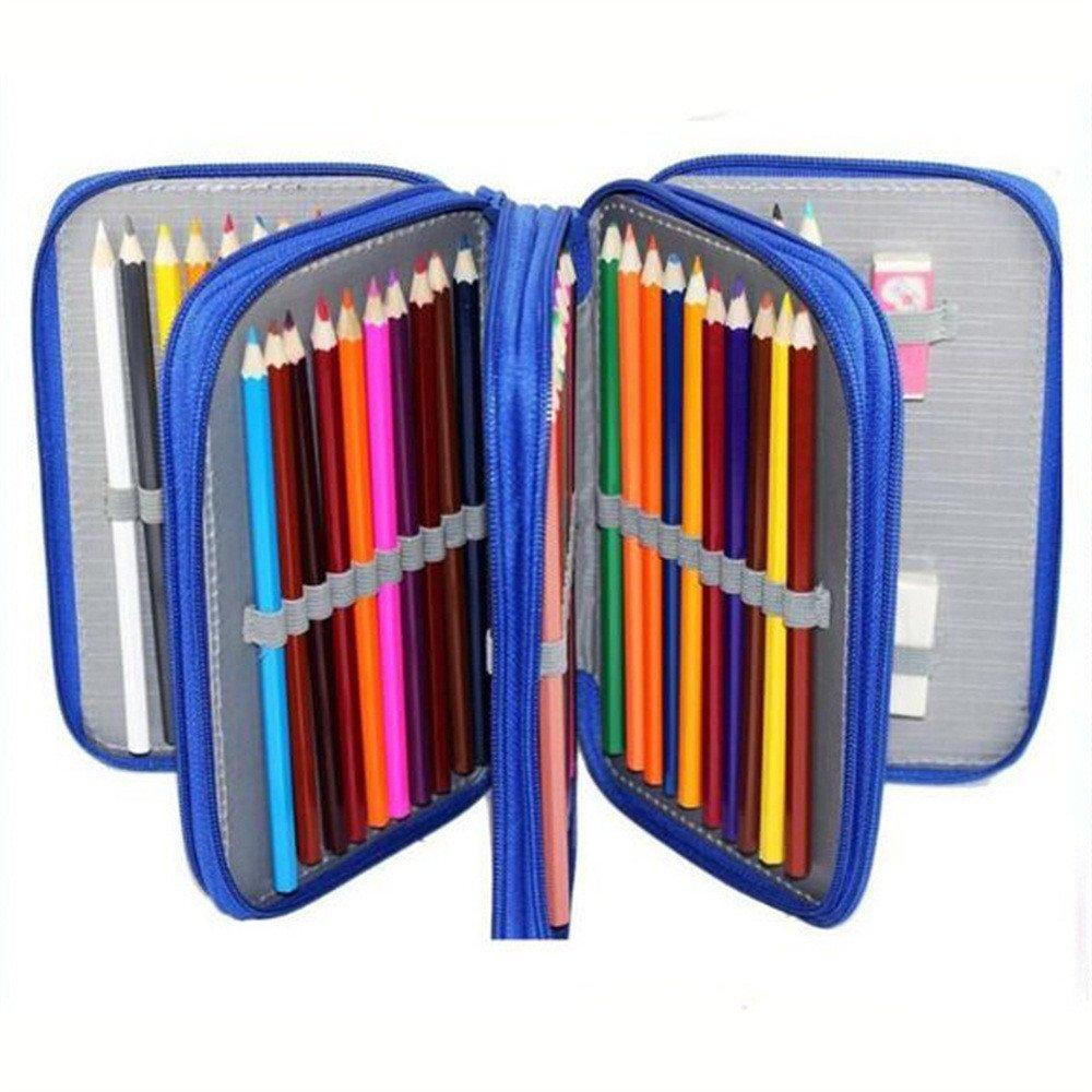 Vier-Sterne-Bleistift führen führen führen 72 Loch Schreibwaren, Studenten Federmäppchen Tasche Tasche erhalten Hand Taschen, Make-up Tasche Kosmetiktasche, lilat B07FNPXQ5C   Schöne Farbe  8d1dbb