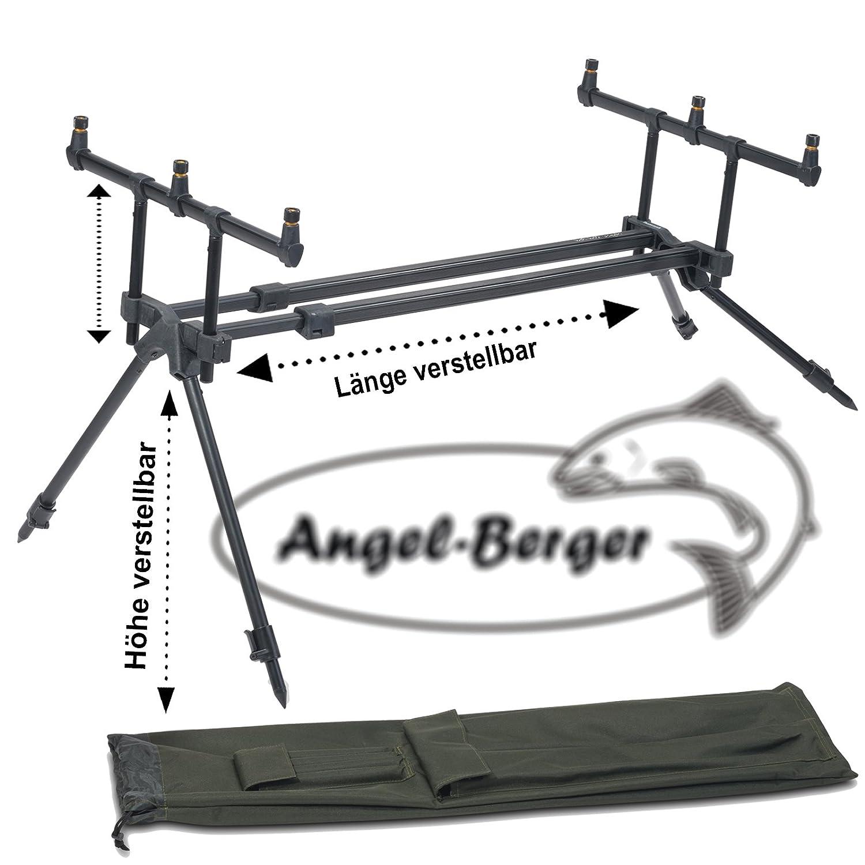Angel-Berger Black Bankstick Rutenhalter Verschiedene L/ängen
