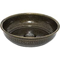 Turkish Authentic Copper Bath Bowl & Hammam Bowl (440gr (15.50 oz) Made of Zinc (Autentic)