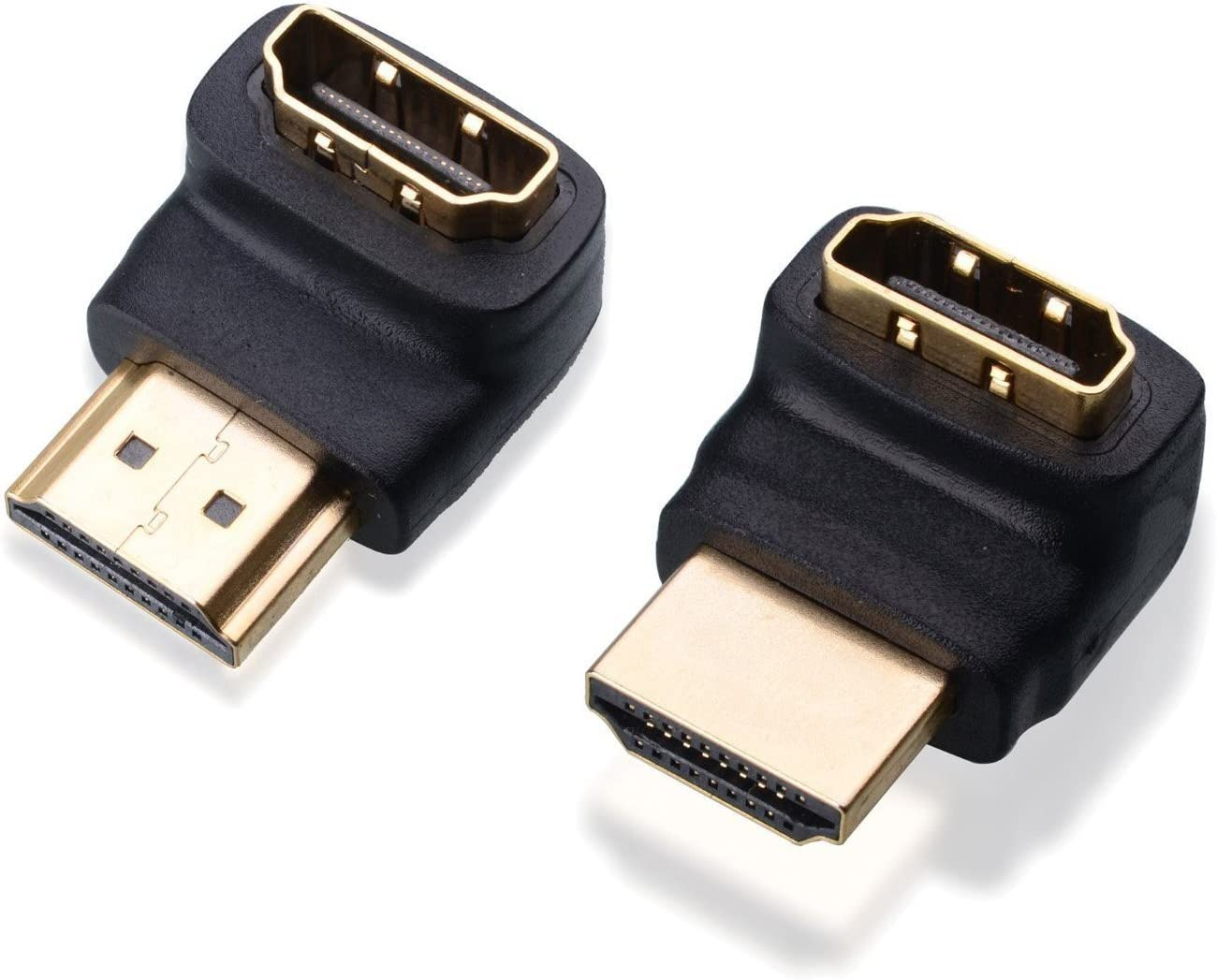 RuiLing Gold Plated 90 Degree and 270 Degree HDMI Male to Female Adapter