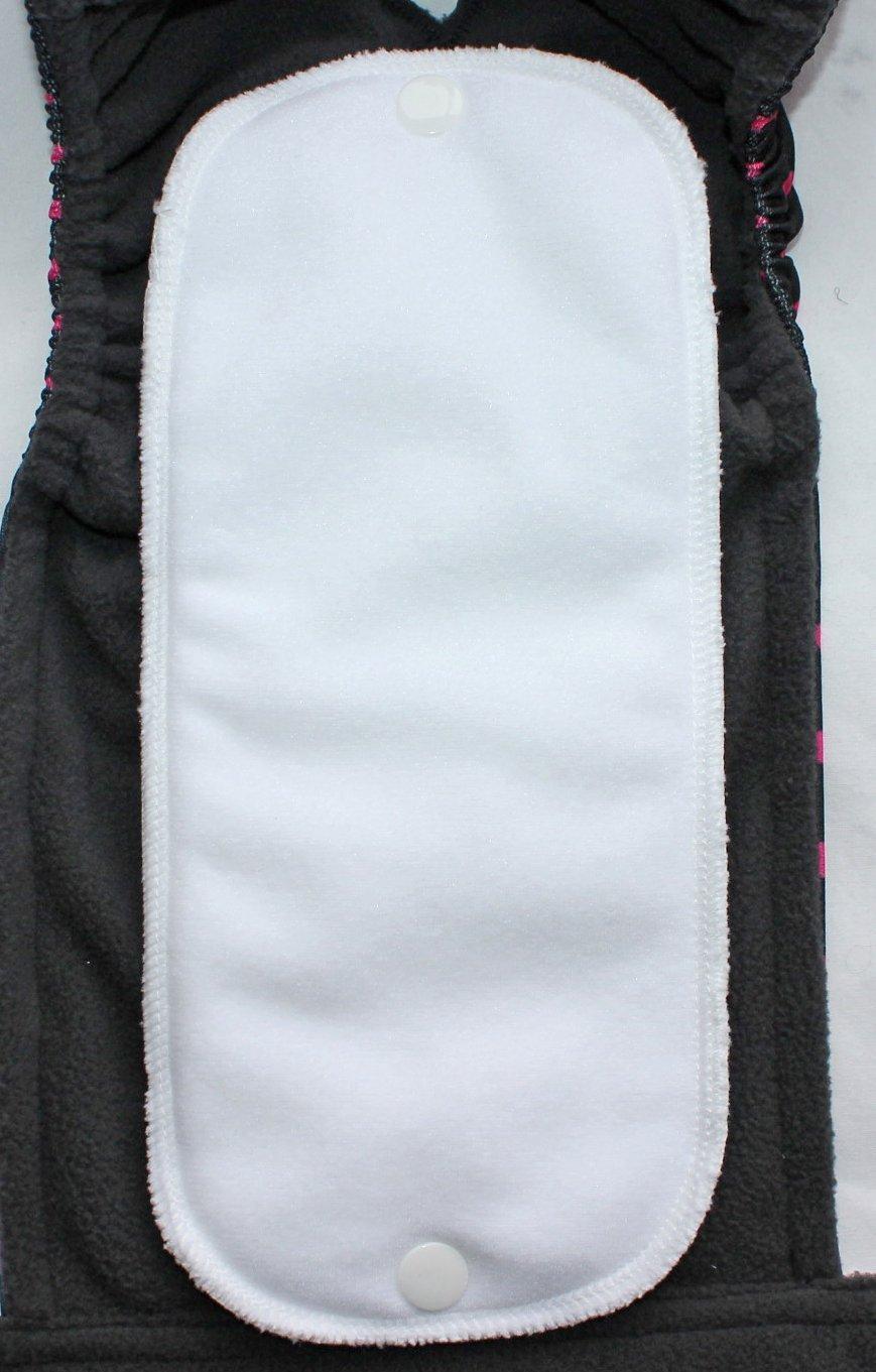 optional Windel f/ür l/äufige H/ündinnen alle Gr/ö/ßen waschbare Einlagen Schwarz mit rosa Punkten